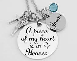 memorial necklace memorial jewelry etsy