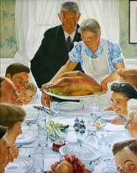 norman rockwell thanksgiving painting artwork