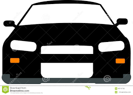 car nissan black black and white 2d car stock illustration image of motor 46715732