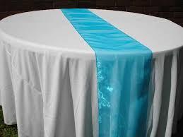 ice blue table runner des moines rental linen