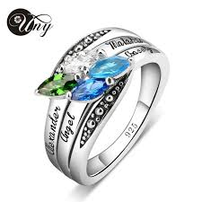 personalized birthstone ring uny rings personalized birthstone ring 925 silver custom