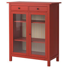 Double Swing Doors Cherry Wooden Linen Cabinets With Double Swing Glass Doors And Two