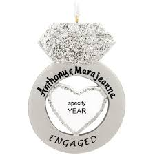personalized engagement ring ornament bronner s