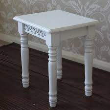 white shabby chic french style dressing table stool melody maison