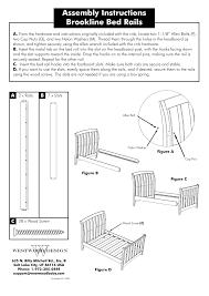 Brookline Convertible Crib Westwood Design Brookline Convertible Crib Bed Rail Kit User