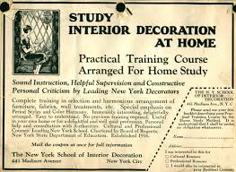 nysid archives special collections new york school of interior nysid early advertisement
