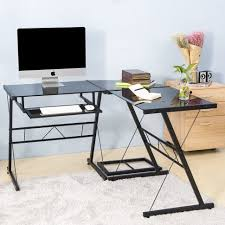 Home Office Glass Desks Desk Glass And Chrome Desks For Home Office Glass Top Pc Desk