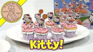 hello kitty 24 mini cupcake party baking kit sanrio youtube