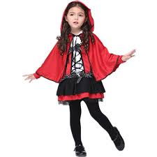 Carnival Halloween Costumes Kids Red Riding Hood Costumes Girls Dress Red Ridinghood