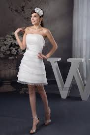 wedding dress discount discount strapless organza ruffles party wedding dress