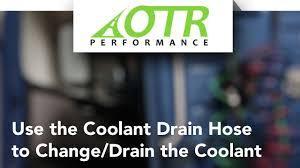 volvo u0026 mack truck coolant drain hose learn how to drain d12 d13