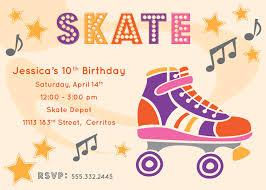 invitation inspiration for your vidor texas skating party