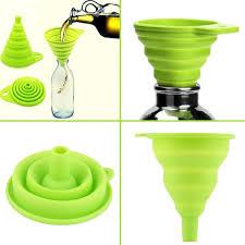 entonnoir de cuisine 1 pcs creative mini silicone pliable pliable style entonnoir