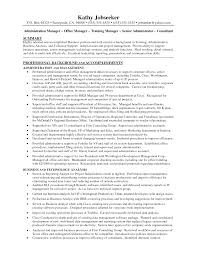 Resume Summary Examples Administrative Assistant by Office Office Manager Resume Summary