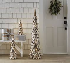 lit glitter birch tree pottery barn