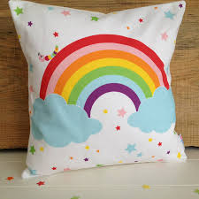 personalised children u0027s rainbow cushion rainbows babies and