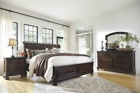 ashley storage bed porter bedroom b697 in burnished brown w storage bed by ashley
