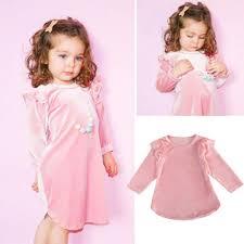 baby dresses for wedding aliexpress buy toddler baby ruffle velvet dress