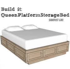 fabulous queen platform bed with drawers plans and how to build a