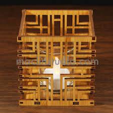 frank lloyd wright millard house design hardwood votive maclin