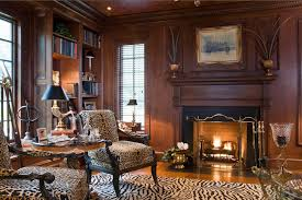 classic home library design fabric interior 30 classic home
