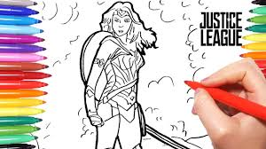 justice league coloring pages how to draw wonder woman from