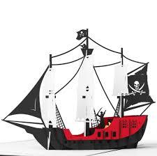 3d pirate ship pop up card lovepop