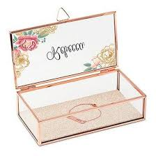 personalized photo jewelry box floral gold personalized jewelry box