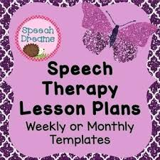 lesson plan template speech therapy template monthly lesson plan template speech therapy weekly or