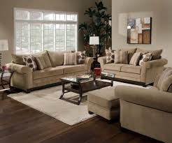 Tan Sofa Set by Simmons Sofa Loveseat Chair Ottoman Tan Accent Pillows Microfiber