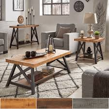 Rustic Accent Table Bryson Rustic X Base Accent Tables By Inspire Q Classic Free