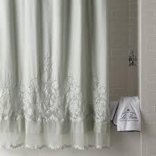 ruffled shower curtain ticking stripe ruffle shower curtain