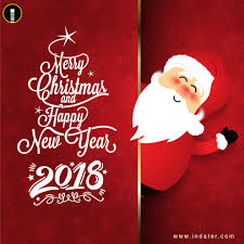 happy new year and merry greetings psd template indiater