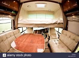 motor home interior alcove bed above drivers cab in concorde luxury motorhome interior