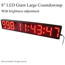 Ivation Clock by Marathon Race Clock Giant Led Clock For Race Timing 8
