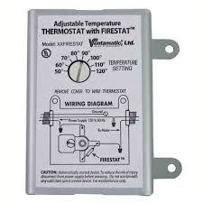 xxfirestat adjustable thermostat for power attic ventilators