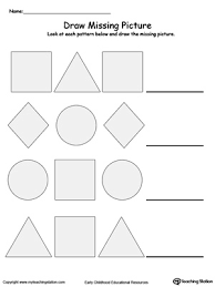draw the missing shape to complete the pattern printable