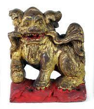 foo dog lion foo dog gold antique figurines statues ebay