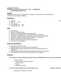 Culinary Resume Template Sample Line Cook Resume Prep Cook And Line Cook Resume Samples
