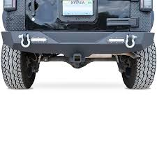 Led Lights For Jeeps Genssi Rear Bumper For Jeep Wrangler Jk 2007 2017 With D Rings And