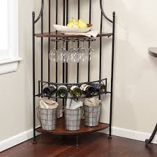 Corner Wine Cabinets Kitchen With Wall Mounted Corner Wine Rack And Cabinet Decofurnish