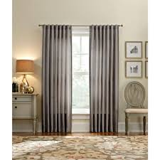 Home Depot Curtains Martha Stewart Living Semi Opaque Zinc Thermal Tweed Back Tab