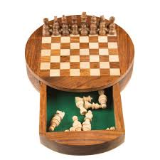 Buy Chess Set Buy Collectors Handcarved Rosewood U0026 Boxwood Round Chess Set