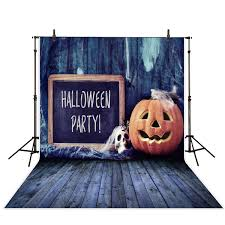 allenjoy halloween background pumpkin blackboard wood vintage