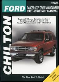 99 ford ranger manual ford ranger explorer and mountaineer 1991 99 chilton total car