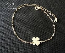 lucky leaf bracelet images Lucky charm 4 leaf clover bracelet supreme gift shop the best jpg