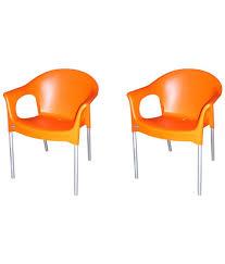 Plastic Furniture Shopping Online India Cello Metallo Cafeteria Chair Set Of 2 Buy Cello Metallo