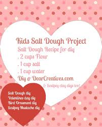 and easy salt dough valentines day diy dear creatives