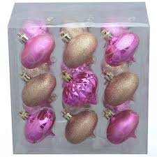 time 18 pack pink gold style ornaments walmart