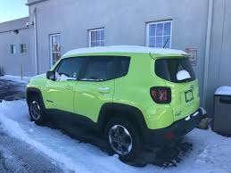 green jeep liberty renegade here u0027s where the rest of the hyper green paint went jeep